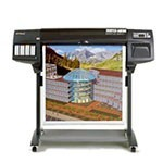 HP Designjet 1050c 36 inch poster papier