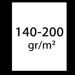140 bis 200 gr poster papier