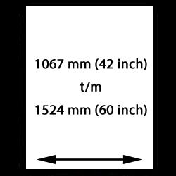 1067mm (42 inch) bis 1524mm (60 inch) canvasgewebe