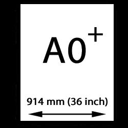 A0 canvasgewebe übergröße (914mm, 36 inch)