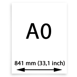 A0 canvasgewebe (841mm, 33,1inch)