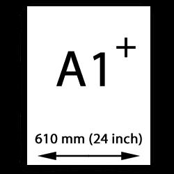 A1 poster papier übergröße (610mm, 24 inch)