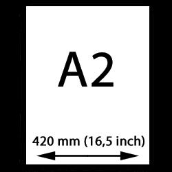 A2 papier (420mm, 16,5 inch)